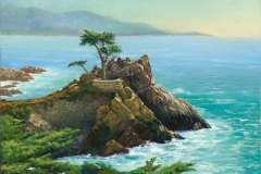 The Lone Cypress 18x24