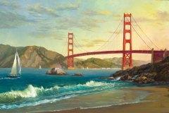 Golden Gate Bridge 19.5x29.5