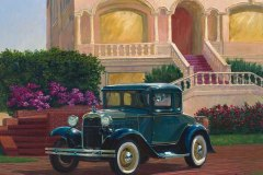 Model A Ford 12x16