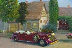 Red Rolls-Royce 12x16