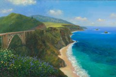Big Sur Brigde View From North 15.5x24