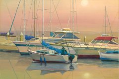 Evening Boats 12x16