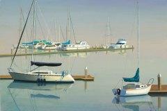 Morning Boats 12x16
