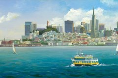 San Francisco Skyline and Old 8x20