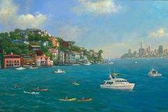 Tiburon Sunny Day 15.5x24