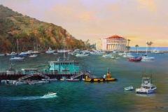 Green Pleasure Pier & Casino Point Catalina 16x24